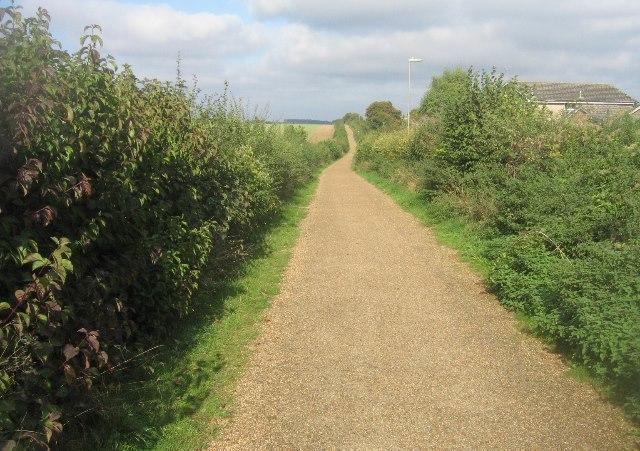 Cycle path by Kempshott