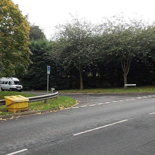 Yellow grit box on the corner of Pillmawr Road and The Firs, Malpas, Newport