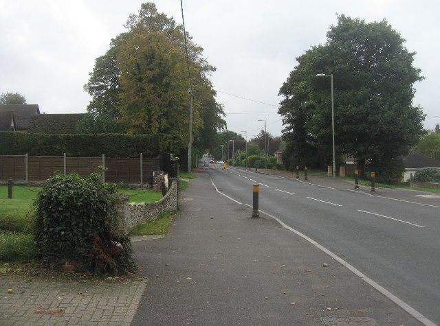 View along Kempshott Lane