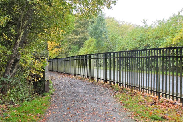 Path alongside B6372, Vogrie Country Park