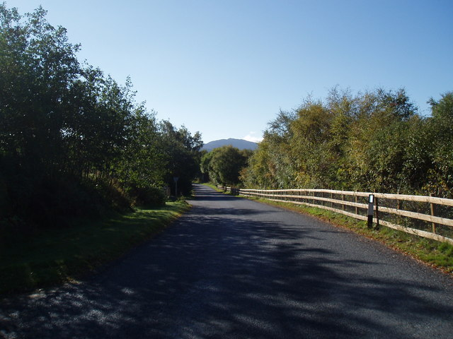 Section of the old A9 at Ralia