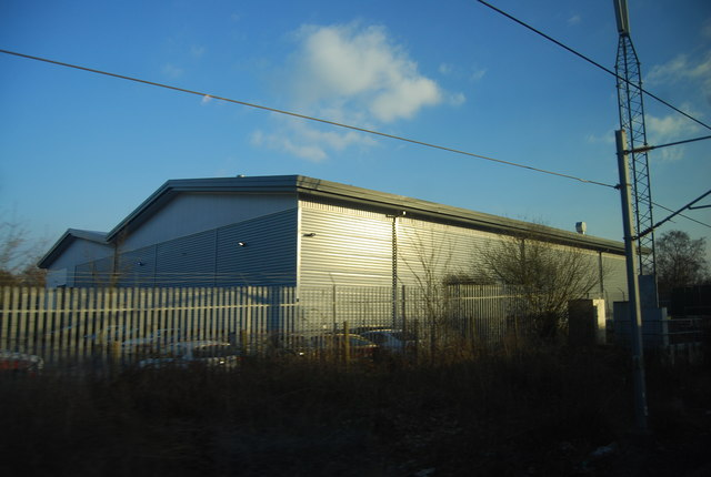 Warehouse by the West Coast Main Line, Handforth