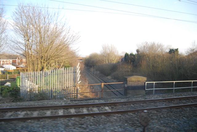 West Coast Main Line crossing a single track line