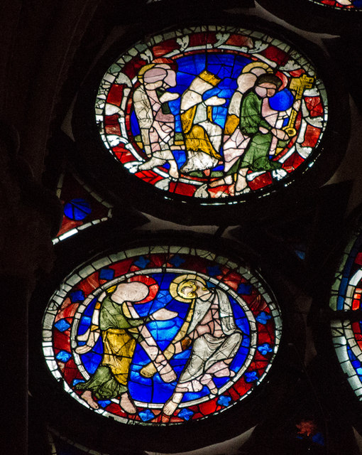 Segments H13-14,  Dean's Eye Window, Lincoln Cathedral