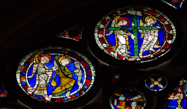 Segments H15-16, Dean's Eye Window, Lincoln Cathedral