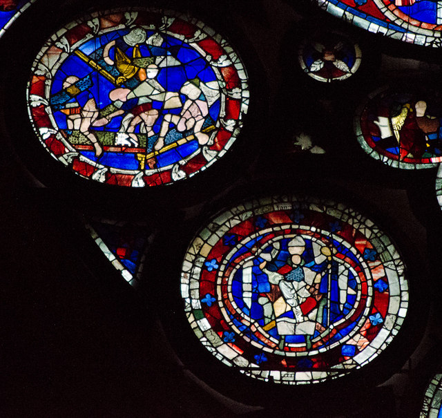 Segments H11-12, Dean's Eye Window, Lincoln Cathedral