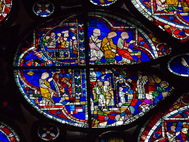 Segment D, Dean's Eye Window, Lincoln Cathedral