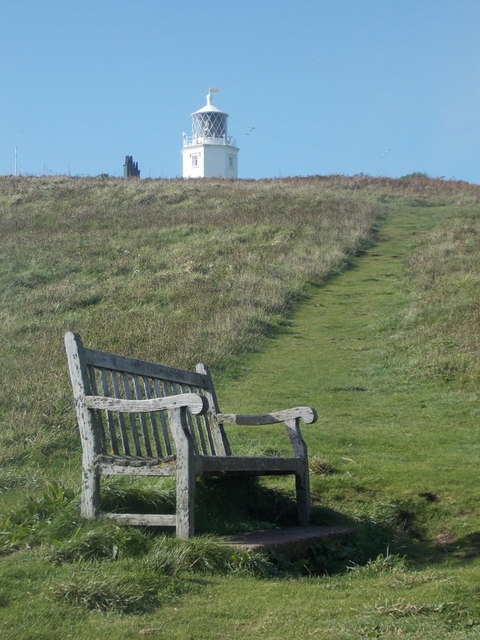 The Lizard: bench and lighthouse