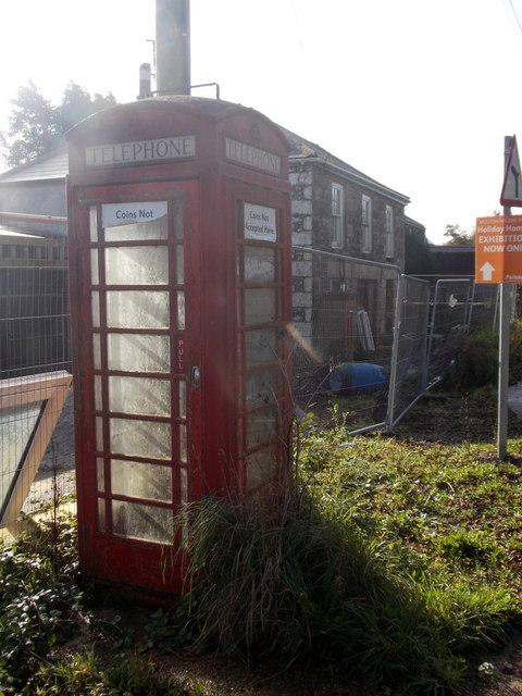 Cury: phone box at Cross Lanes
