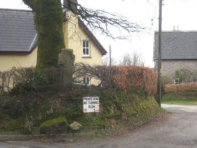 Wayside cross near Halwill church