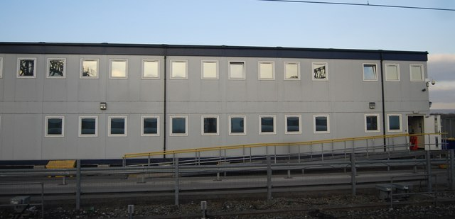Trackside building