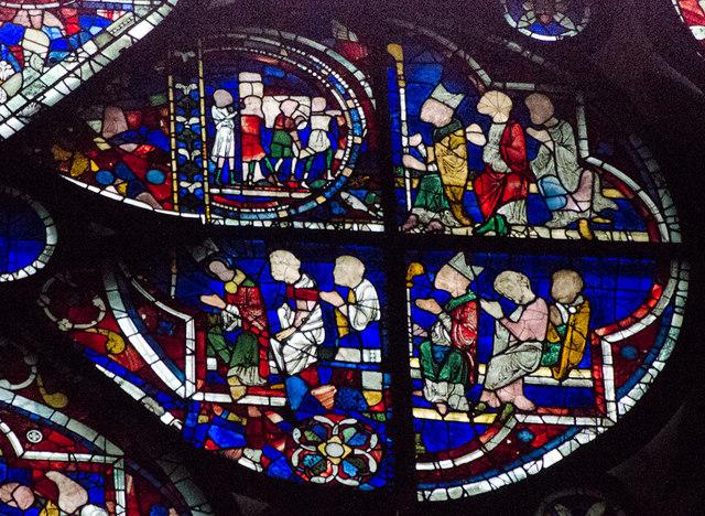 Segment B, Dean's Eye Window, Lincoln Cathedral