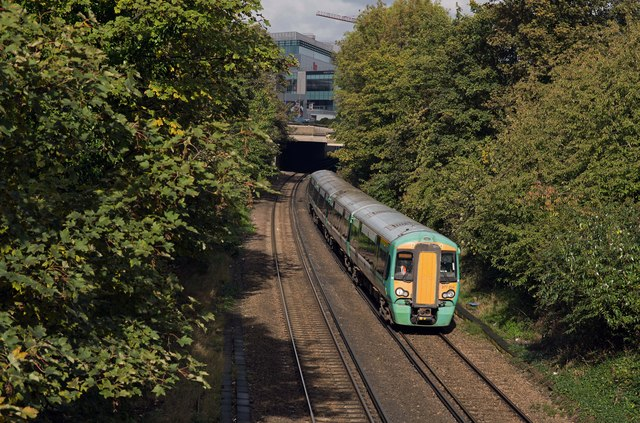 Passenger train near Kensington Olympia