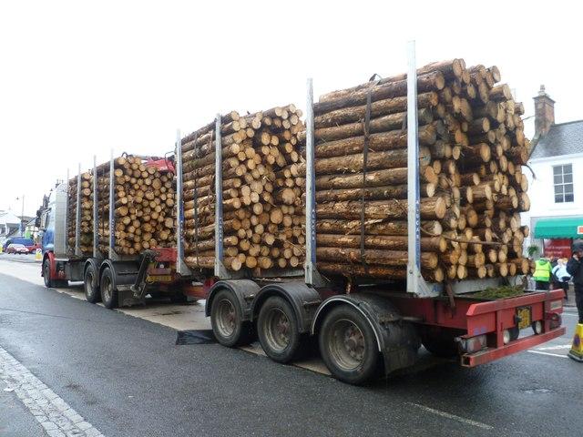 Log transporter, Drumlanrig Street