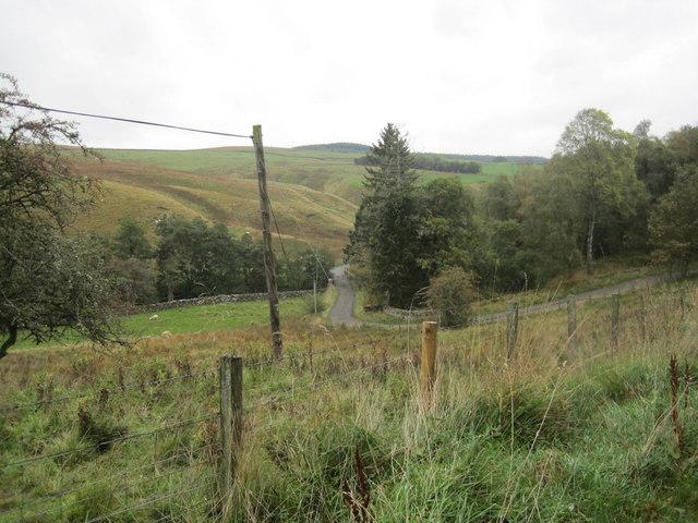 Road towards Greenhaugh