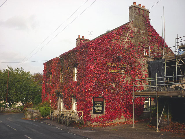The New Inn turns red