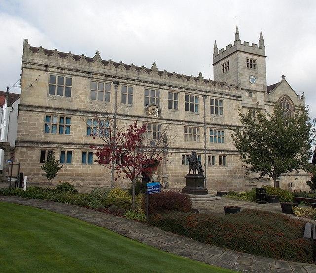 Grade I listed Castle Gates Library, Shrewsbury