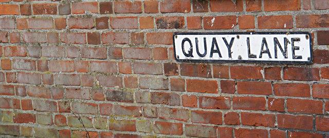 Quay Lane sign