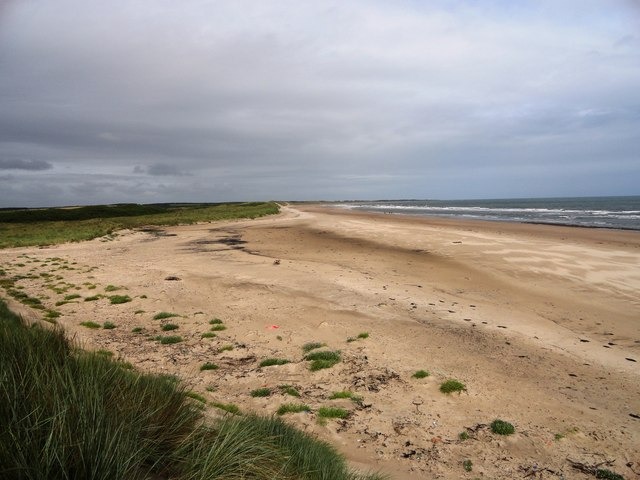 View north up Druridge Bay