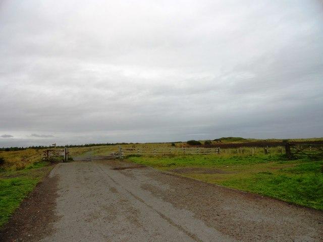 Gate across the coastal footpath