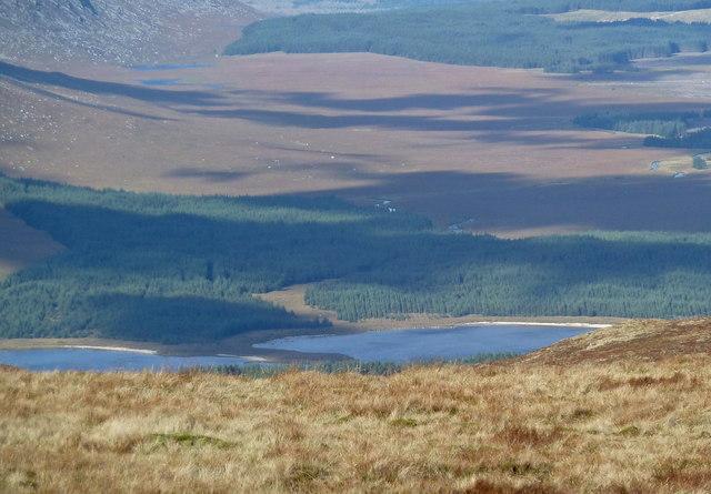 Loch Dee in autumn sunlight