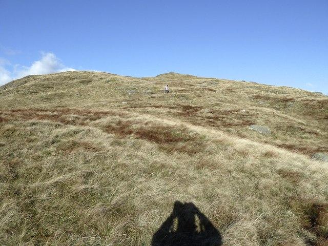 Walker descending from Red Gairy