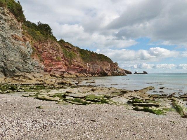 Cliffs at St. Mary's bay, Brixham