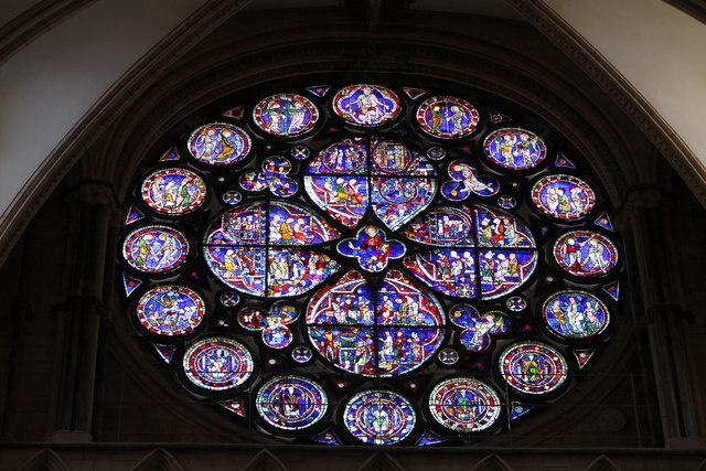 Complete Dean's Eye Window, Lincoln Cathedral