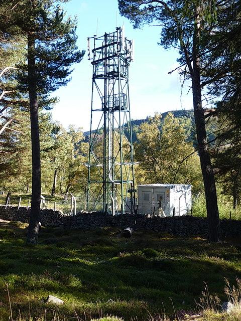 Orange mobile phone mast, Balnagower
