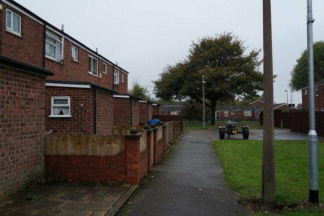 Houses on Woodbine Close, Hull