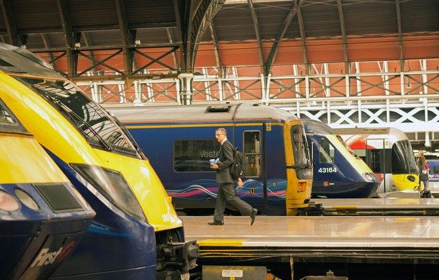 Trains at Paddington Station