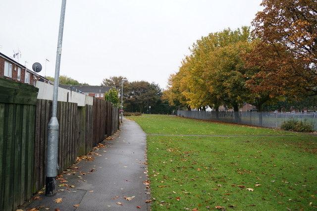 Spare land at the back of Blake Close, Hull