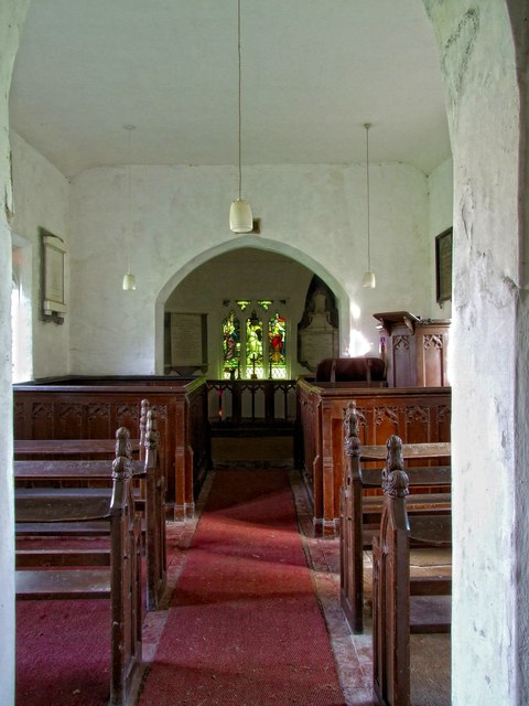 Interior of the Church of All Saints, Oxcombe