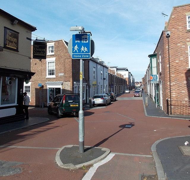 Home Zone, Egerton Street, Chester