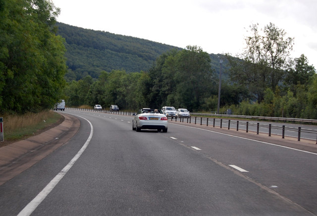 A449 along the Usk Valley