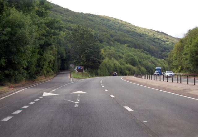 A449 exit to Parking and Picnic Area