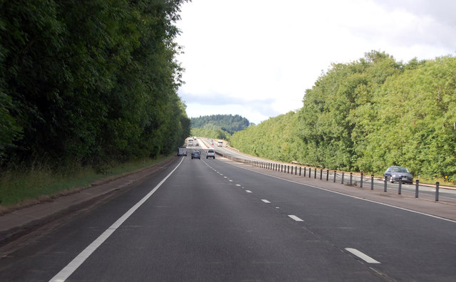 A449 straight along the Usk valley