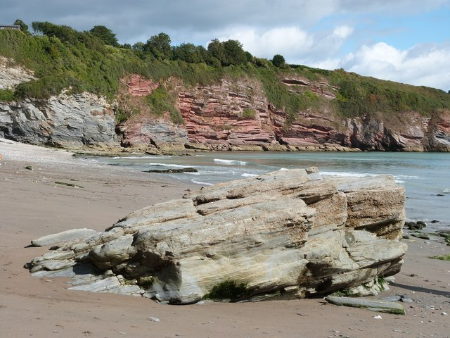 The red sandstone cliffs at St. Mary's Bay, Brixham