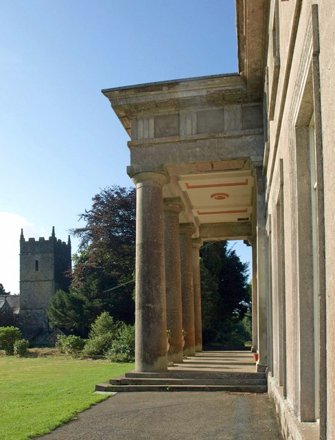 Buckland House and church
