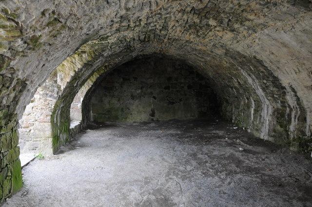 Cellar in Narberth Castle