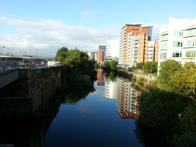 River Aire near Leeds Station
