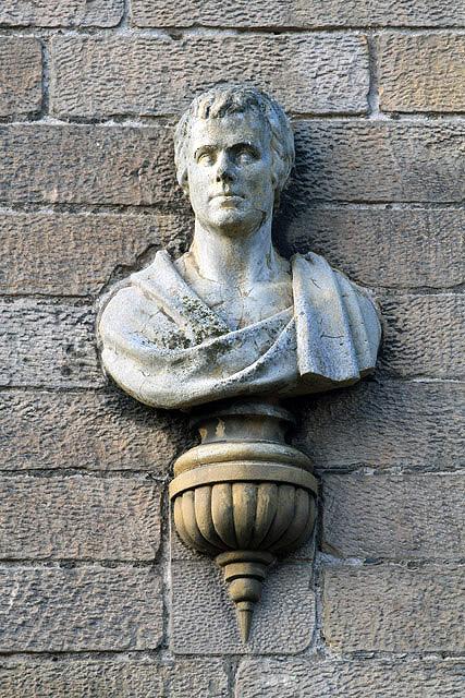 A Robert Burns bust in St Andrew Street, Galashiels