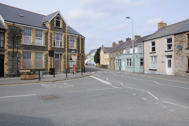 Road junction in Whitland
