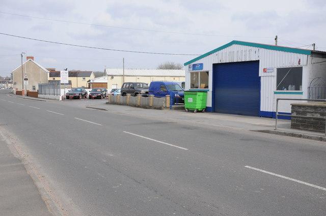 Commercial premises on Station Road, Whitland