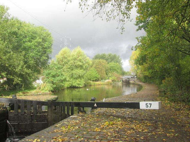 Rochdale Canal, Lock 57 towards Lock 56