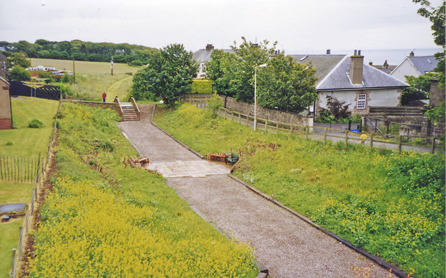 Site of former Johnshaven station, 2002