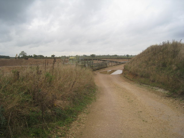 Entrance to sand and gravel pit off Beehive Lane