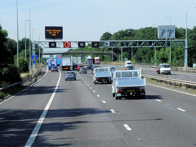 Southbound M42 near Solihull