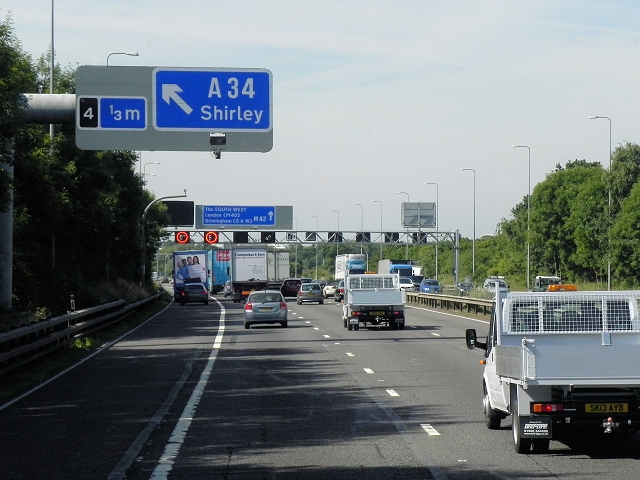 Southbound M42 Approaching Junction 4