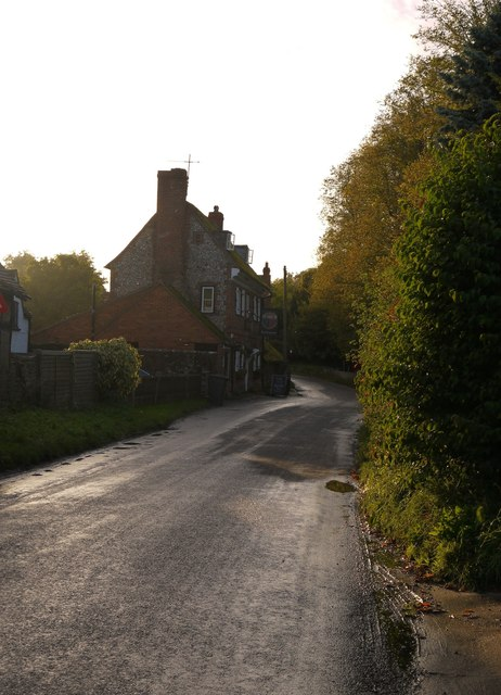 Fingest: the village street and The Chequers